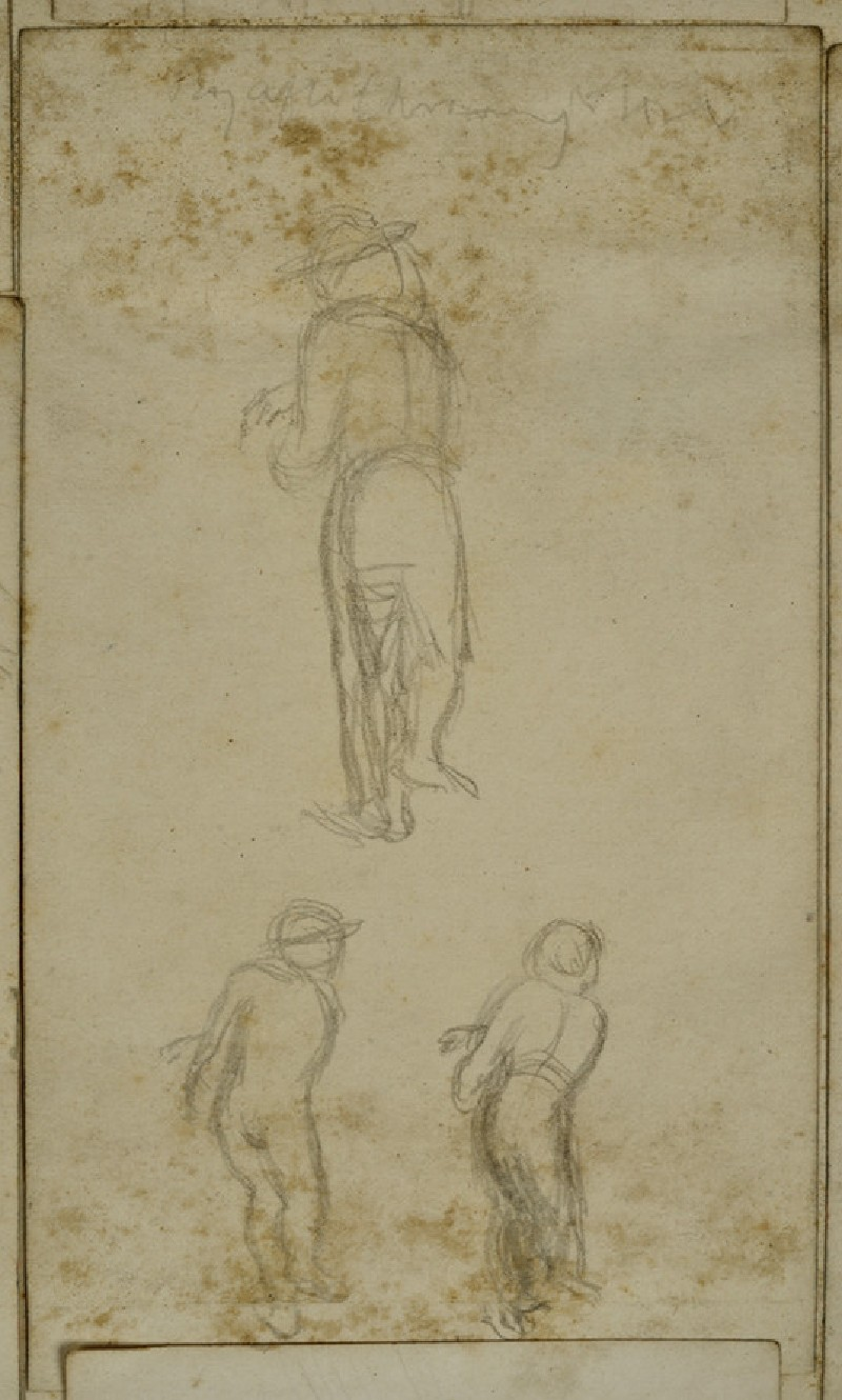Three Studies of a Boy after throwing a Stone