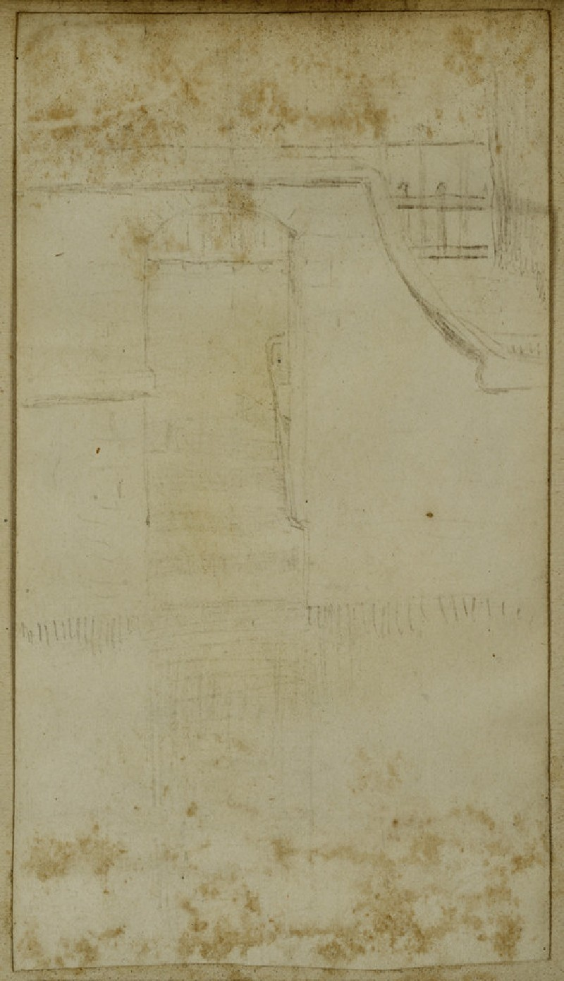 Recto: Study of a Door set into a Wall 