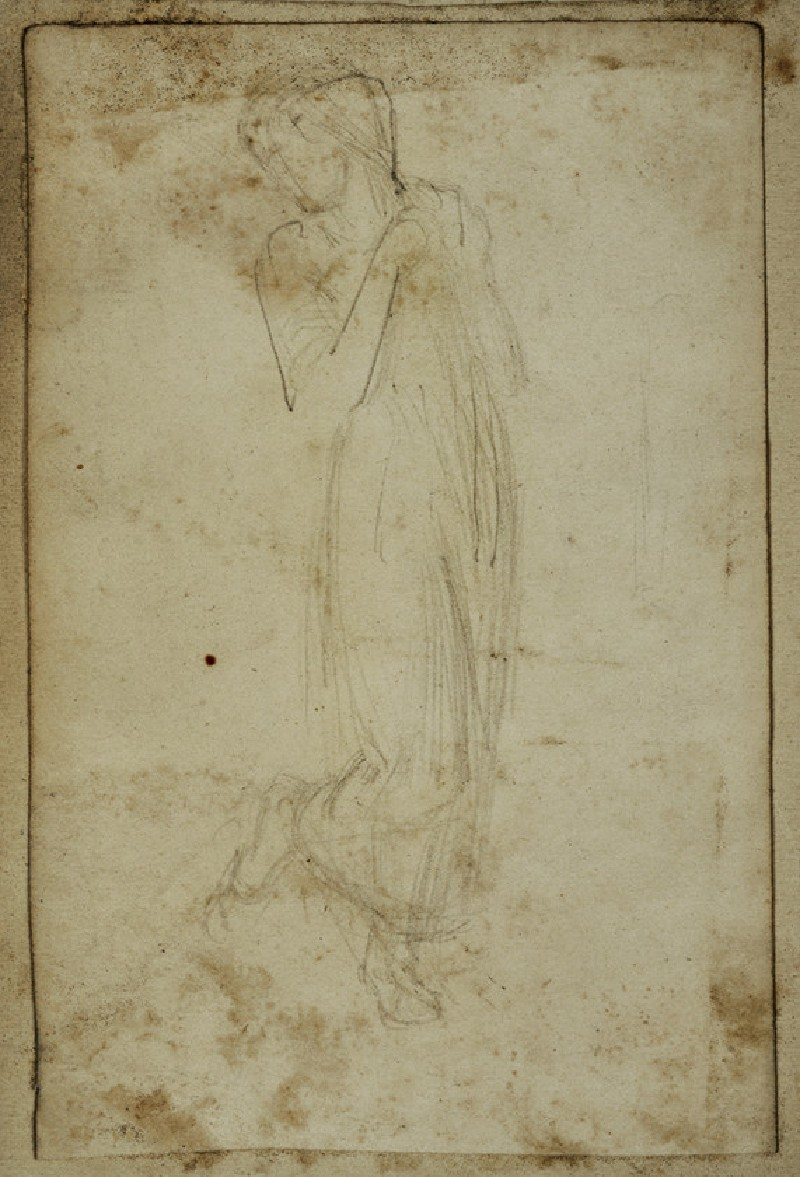 Study of a Woman looking back over her Shoulder