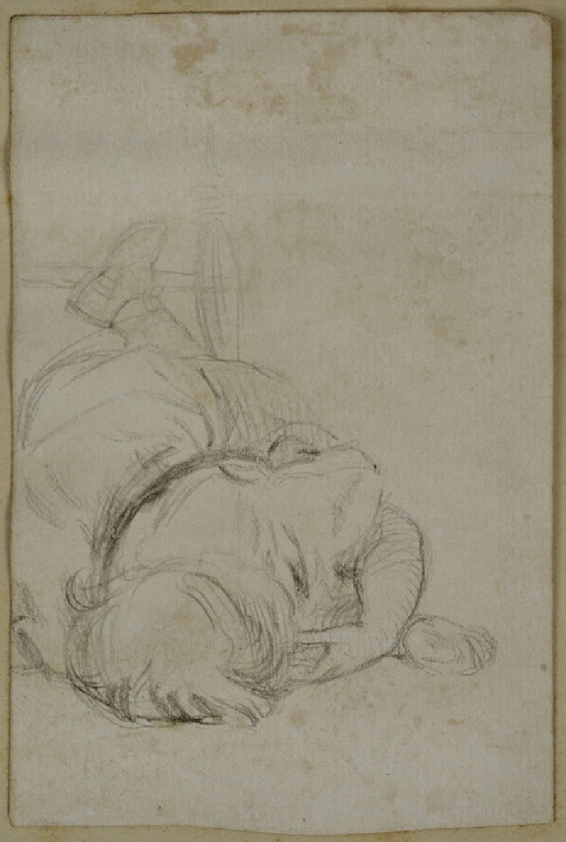 Study of a Child lying on the Floor sucking its Thumb (WA2007.7.67)