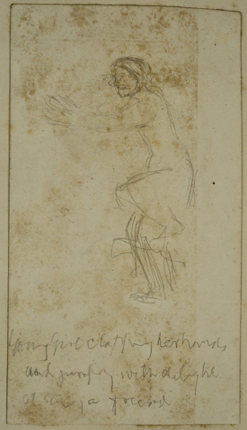 Study of a young Girl clapping (WA2007.7.79)