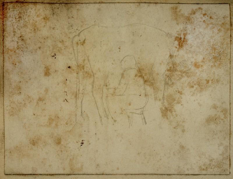 Study of a Woman milking a Cow (WA2007.7.87)