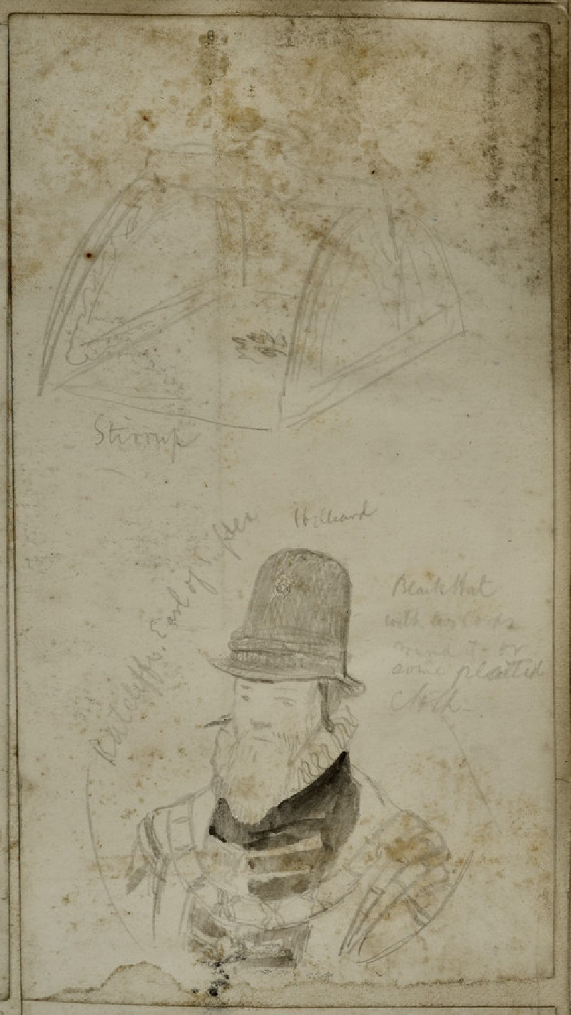 Study of a Man in 16th-century Costume and a Study of a Stirrup