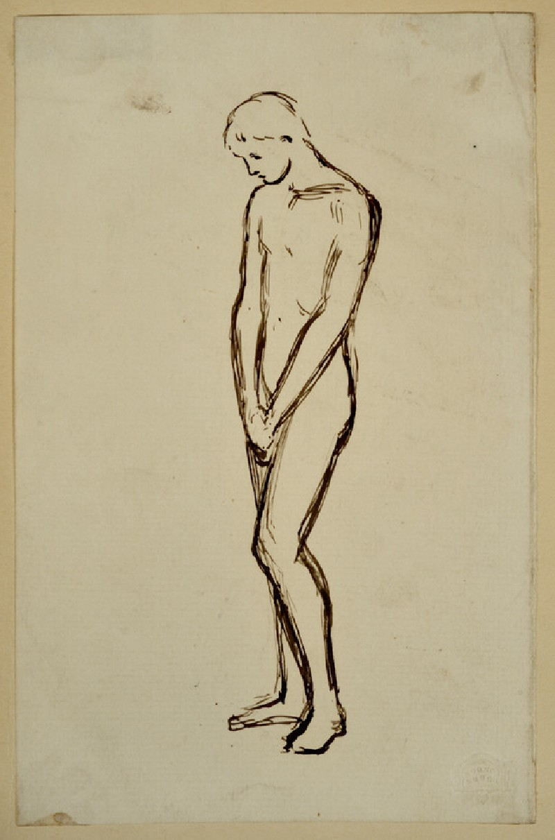 Study of a male Nude with Hands clasped (WA2007.8.18)