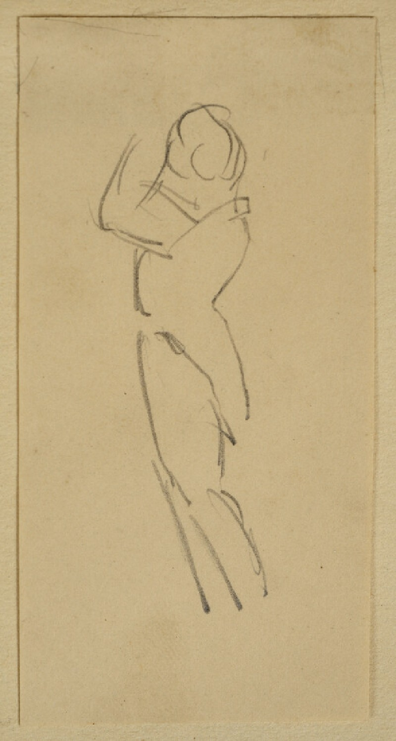 Slight Study of a Figure facing left