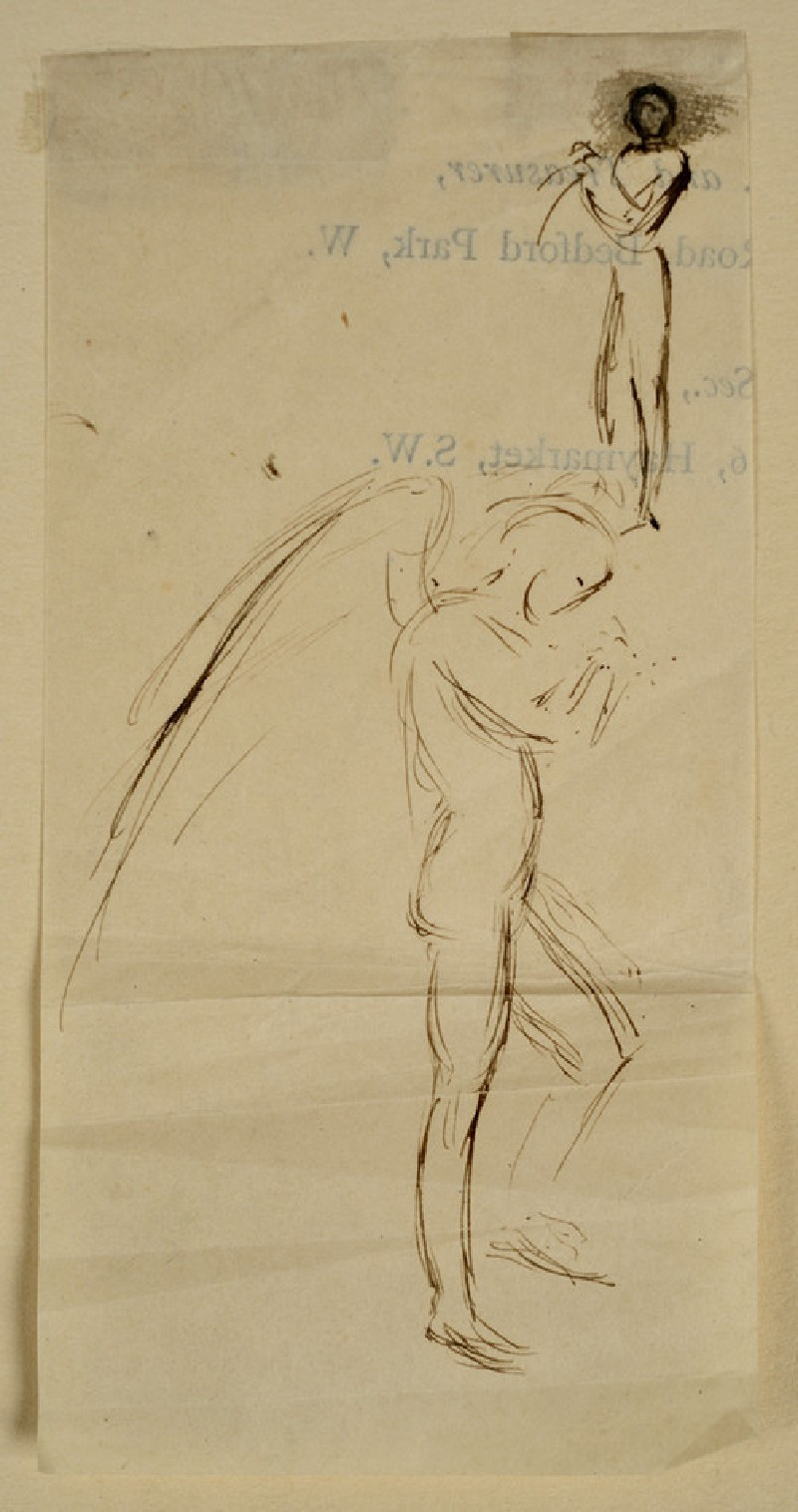 Studies of an Angel in profile, and of a male nude (WA2007.8.26)