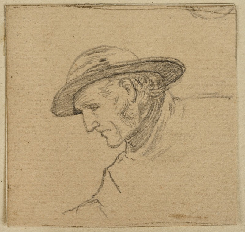 Study of the Head of the Fisherman for 'Active and Passive'