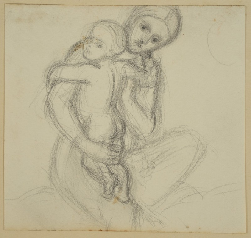 Study for the Virgin holding the Christ-child, for 'The Triumph of the Innocents' (WA2007.8.32)