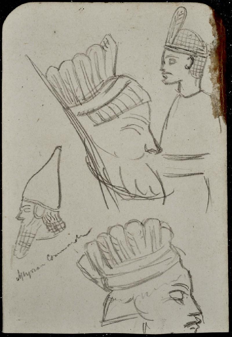 Study of an Assyrian Head-dress
