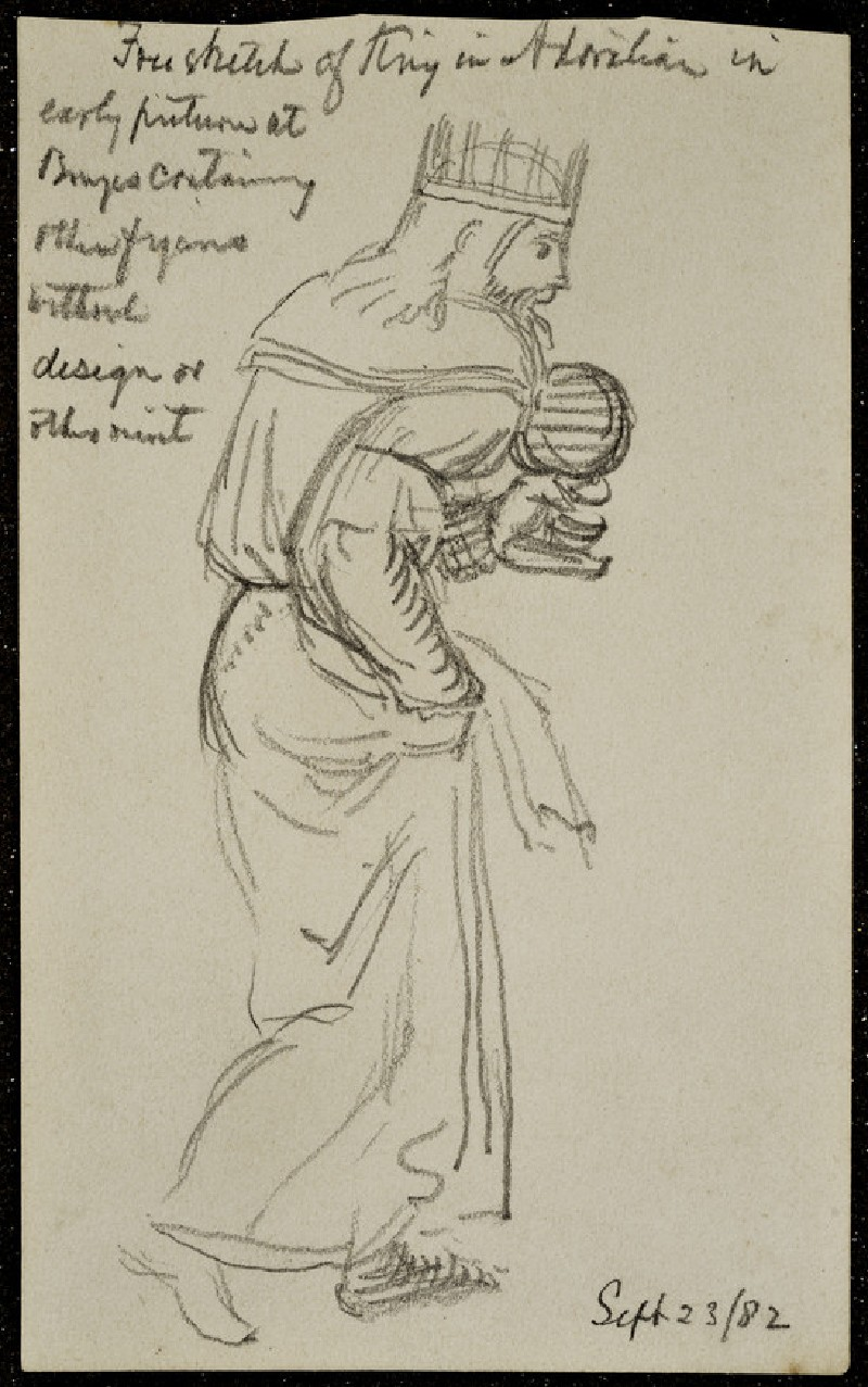 Free Sketch of a King, copied from an 'Adoration of the Magi' at Bruges (WA2007.9.18)