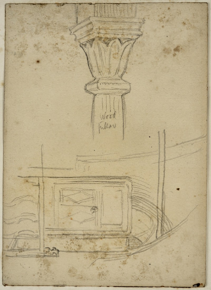 Study of a Pillar and other architectural Elements (WA2007.9.4)