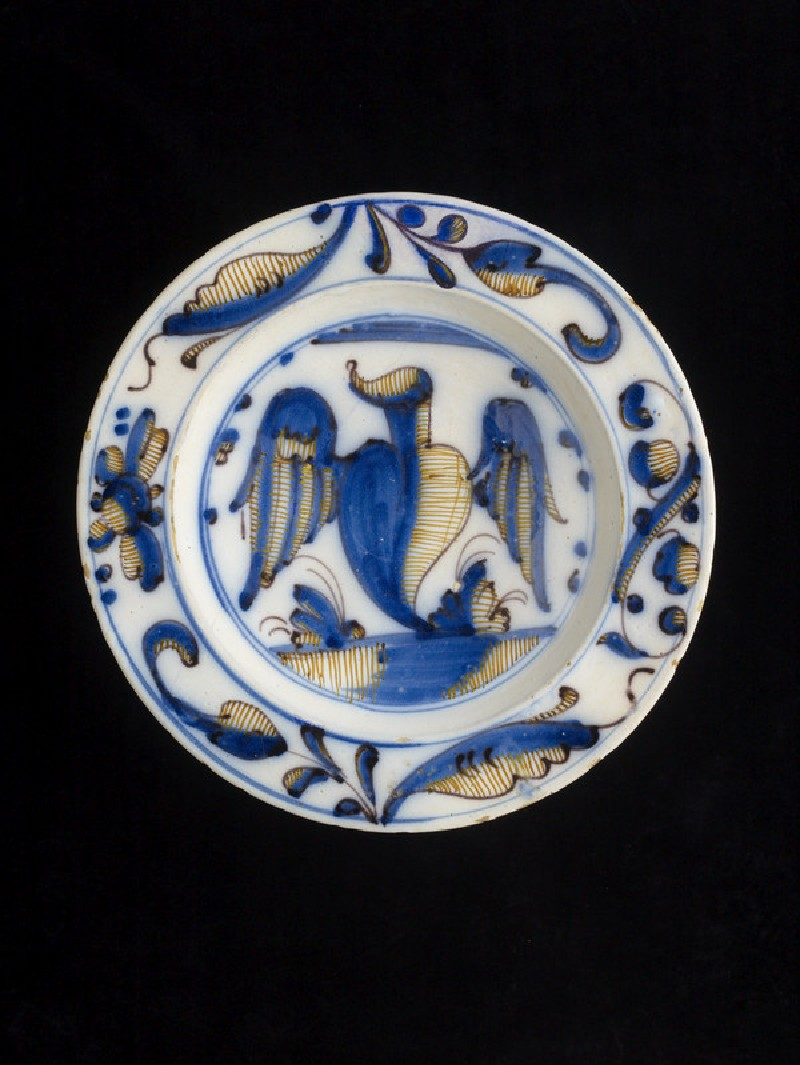 Plate with a winged heart (WA2008.7)