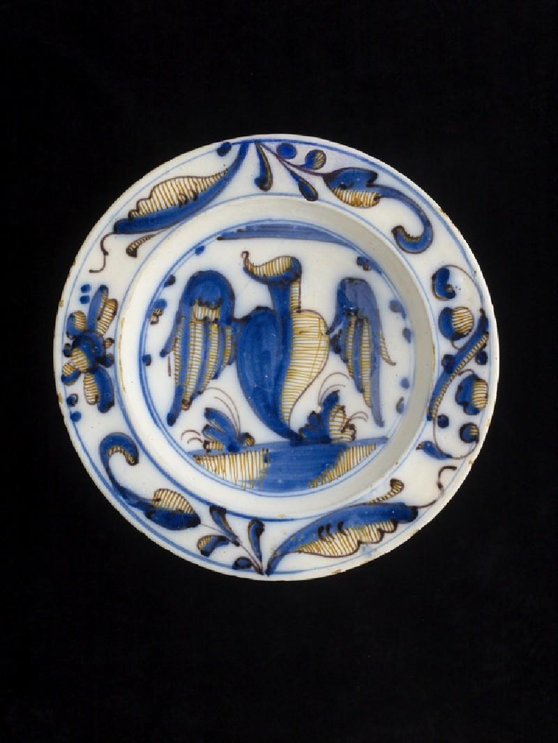 Plate, a winged heart (WA2008.7)