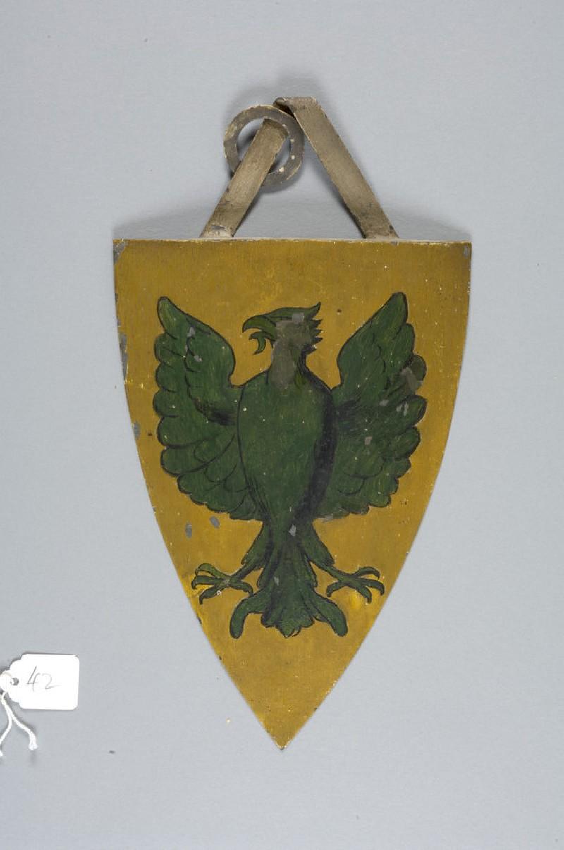 Heraldic shield with arms of Ralph de Monthermen (WA2008.97.42)