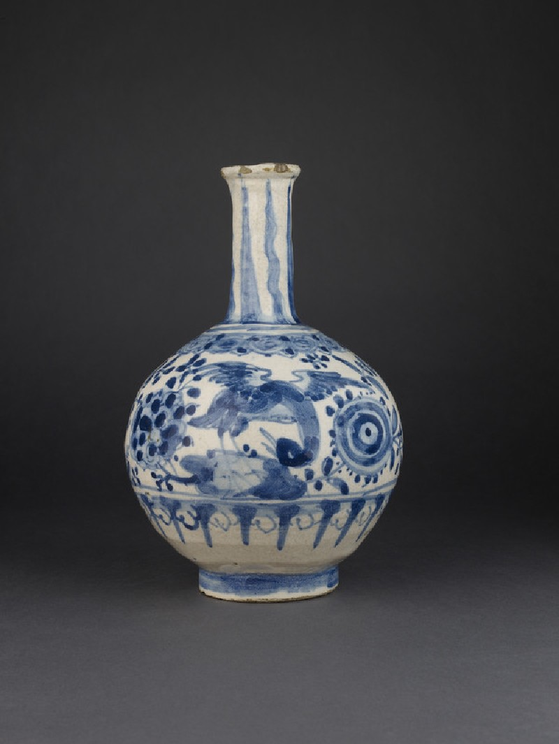 Bottle with Chinese-type decoration (WA2009.141)