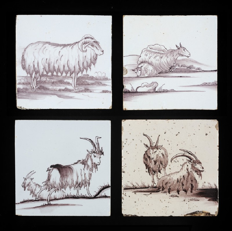 Tile with standing ram