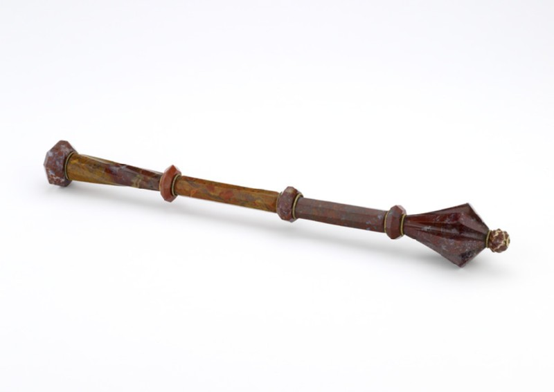 Staff of office or horseman's parade mace (WA2013.1.20)