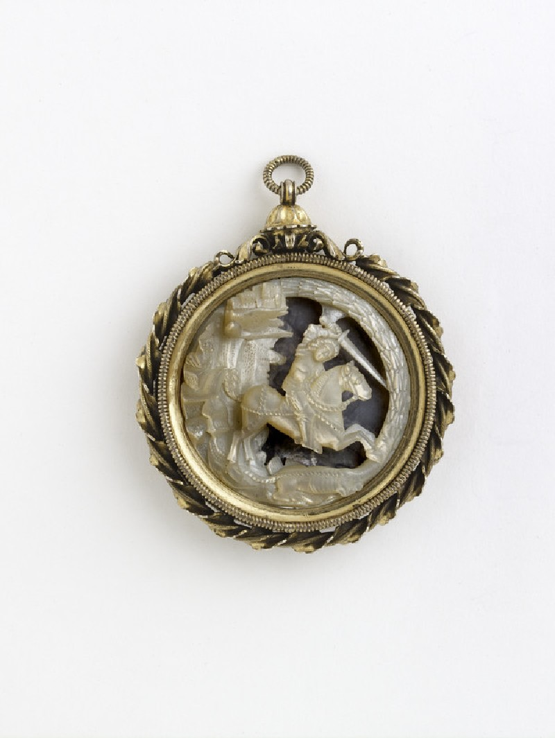 Pendant with St George and the Dragon, and Princess (WA2013.1.29)