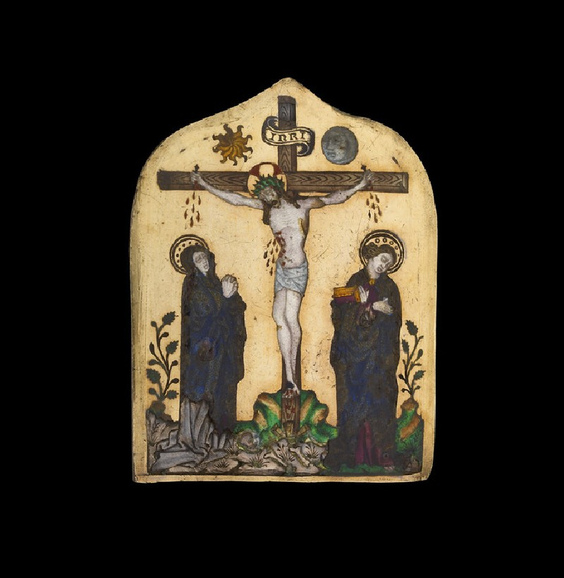 Enamelled plaque: the Crucifixion (WA2013.1.7)