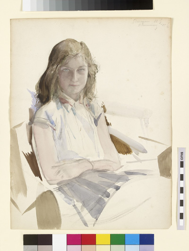 Portrait of a seated girl (WA2013.8)