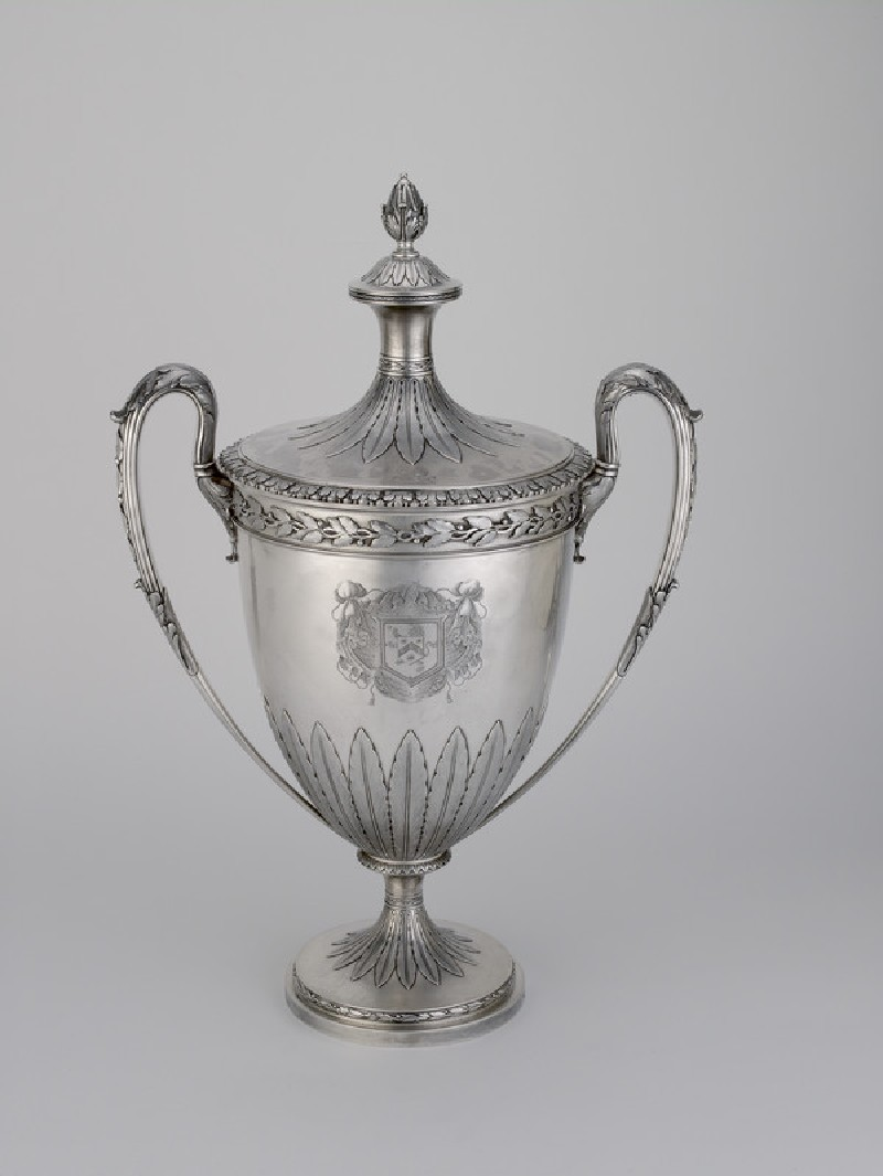 Two-handled cup and cover in Adam-style