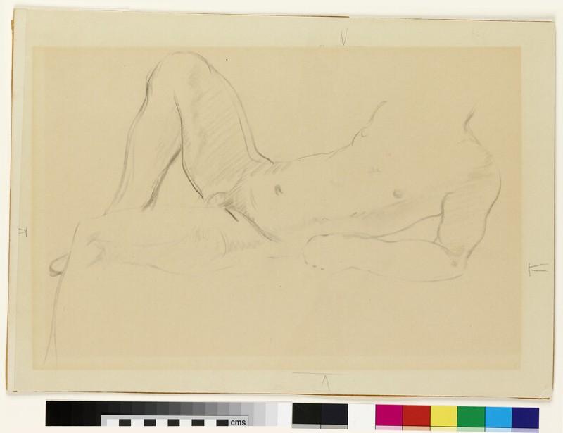 Reclining male nude (WA2017.9)