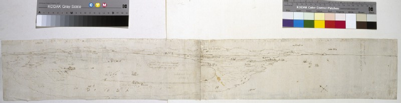 Recto: Sketch of the Lagoon of Valencia, la Albufera and adjacent coast and countryside