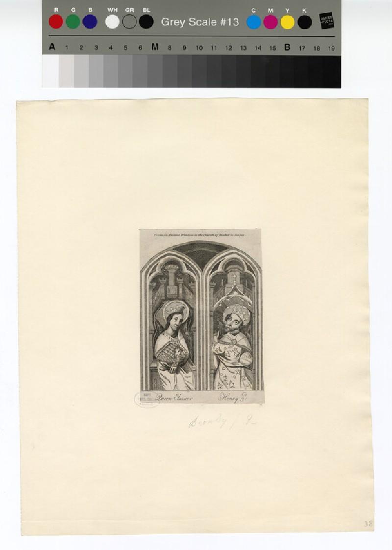 Portrait of Henry III and Queen Eleanor