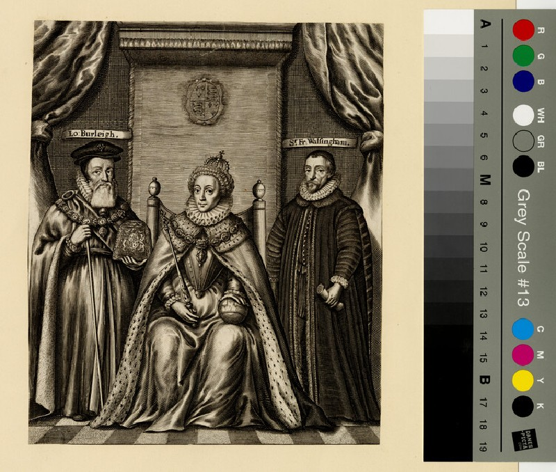 Portrait of Elizabeth I, with Burleigh and Walsingham (WAHP13062)
