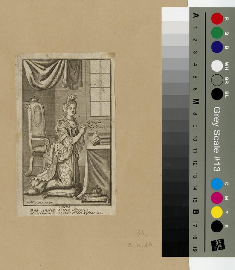 Portrait of Queen Anne, in prayer