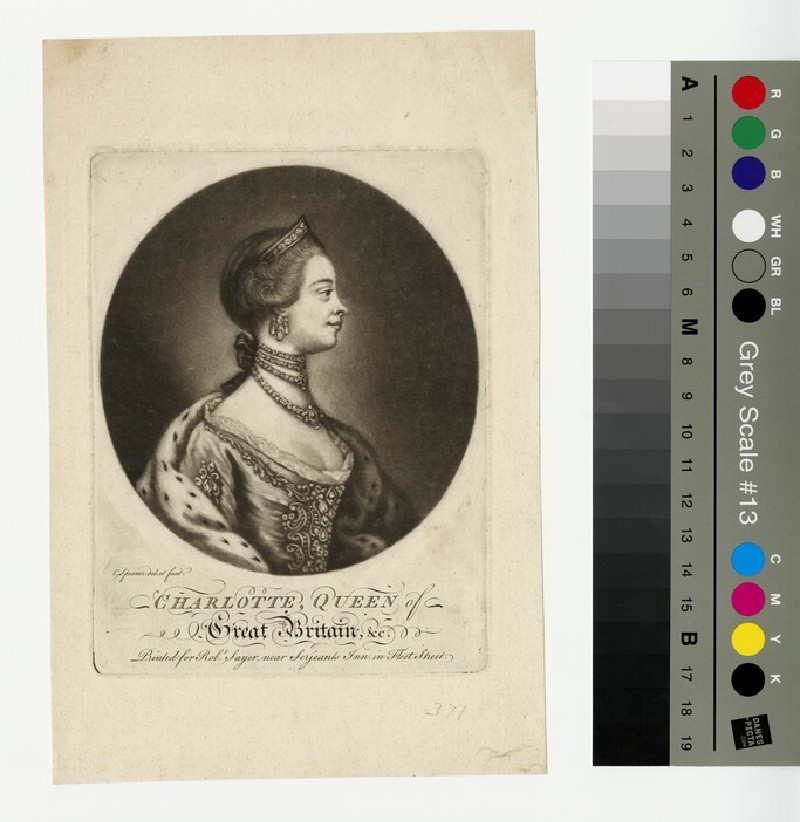 Portrait of Queen Charlotte (WAHP13373)