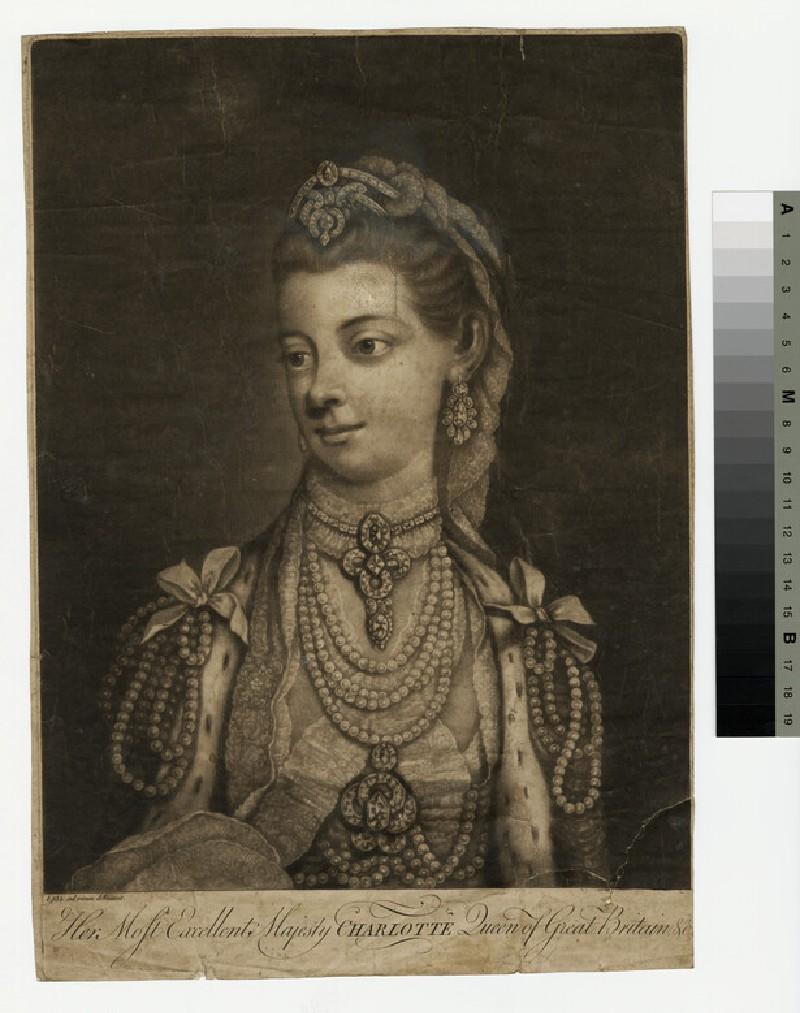 Portrait of Queen Charlotte (WAHP13386.1)