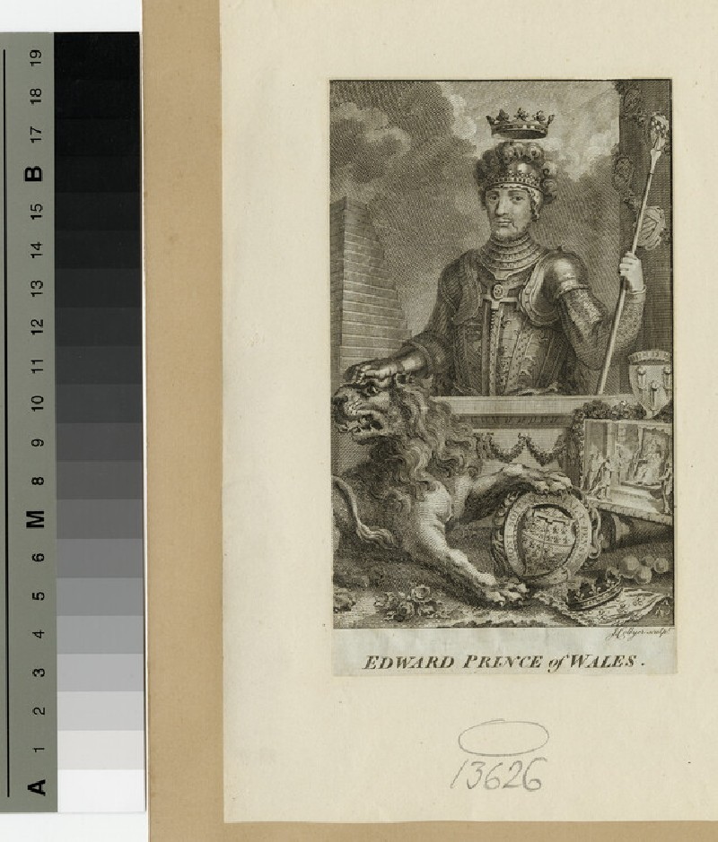 Portrait of Edward, the Black Prince (WAHP13626)