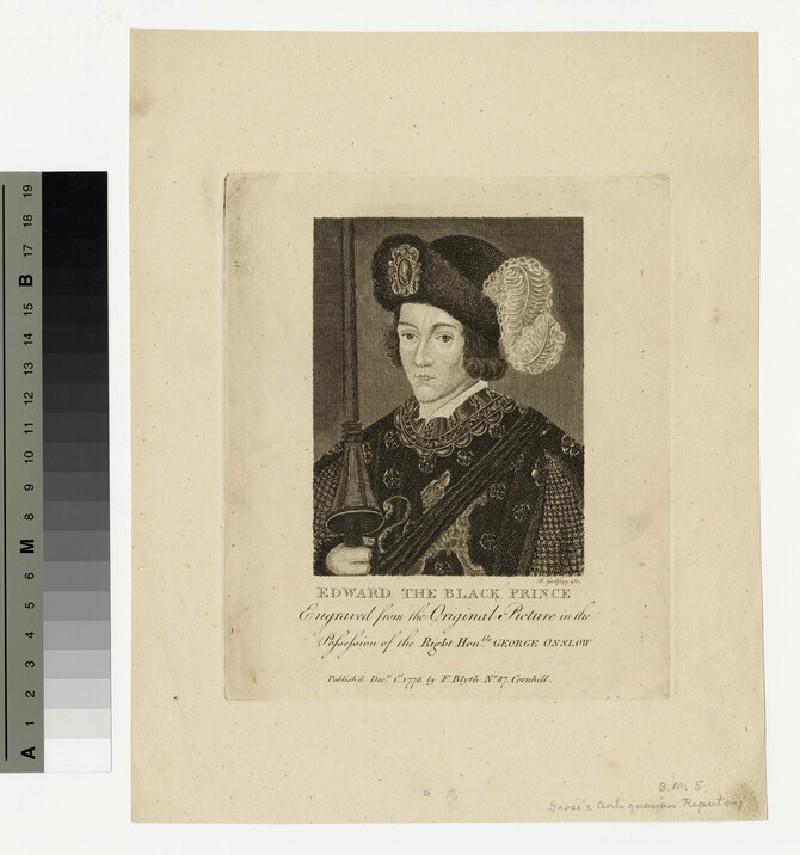 Portrait of Edward, the Black Prince