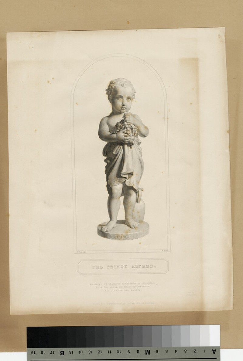 Portrait of Prince Alfred, after a sculpture, as Autumn