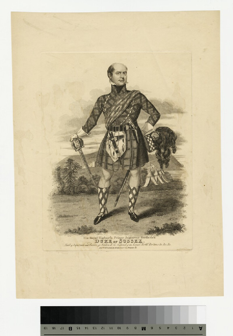 Portrait of Prince Augustus Frederick, Duke of Sussex (WAHP13865)