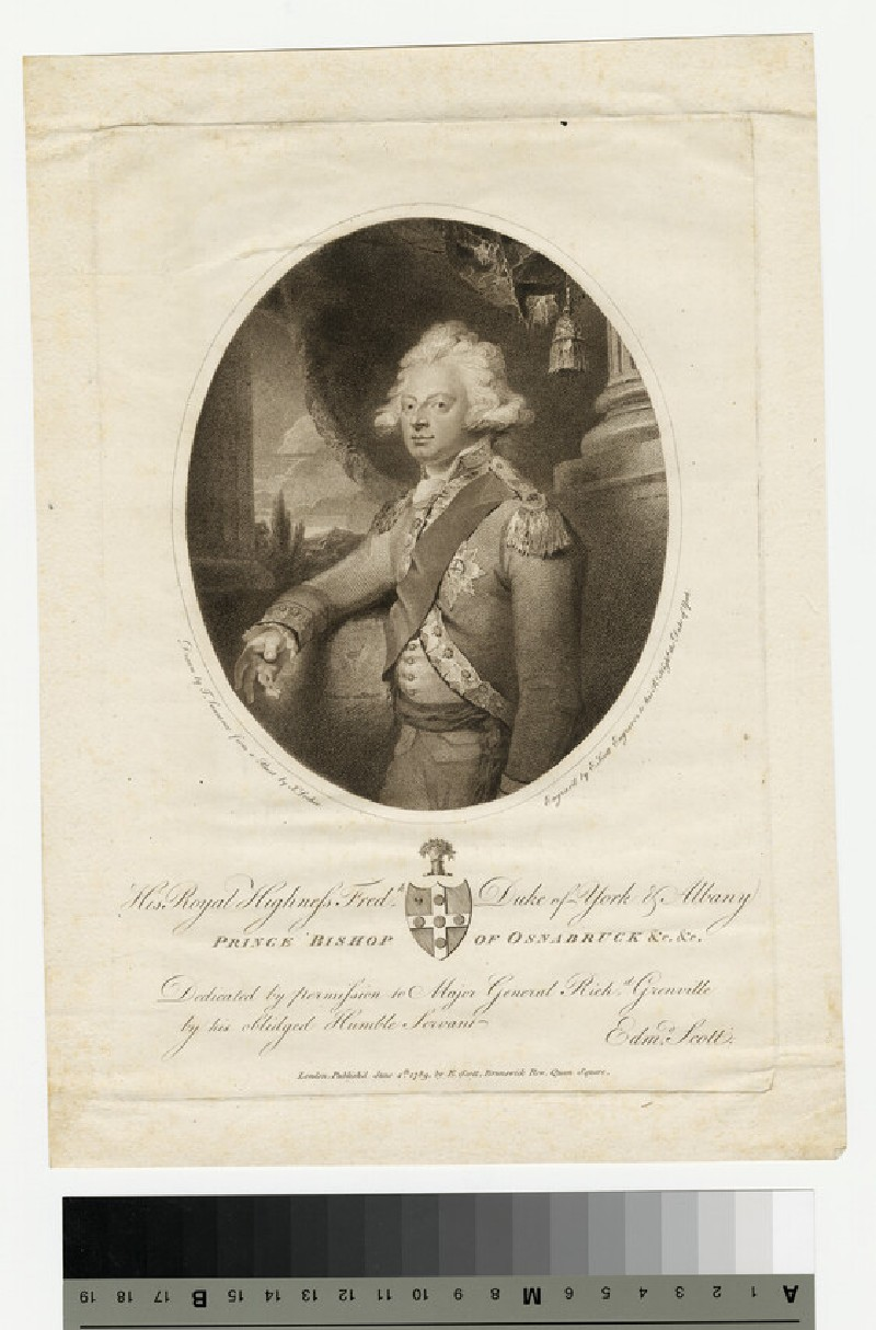 Portrait of Prince Frederick, Duke of York and Albany (WAHP13888.3)