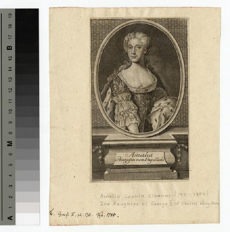 Portrait of Princess Amelia Sophia Eleanor