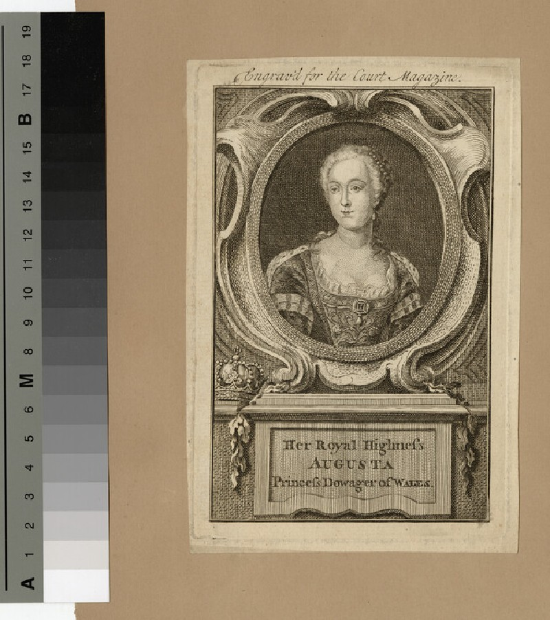 Portrait of Princess Augusta of Wales (WAHP14020)