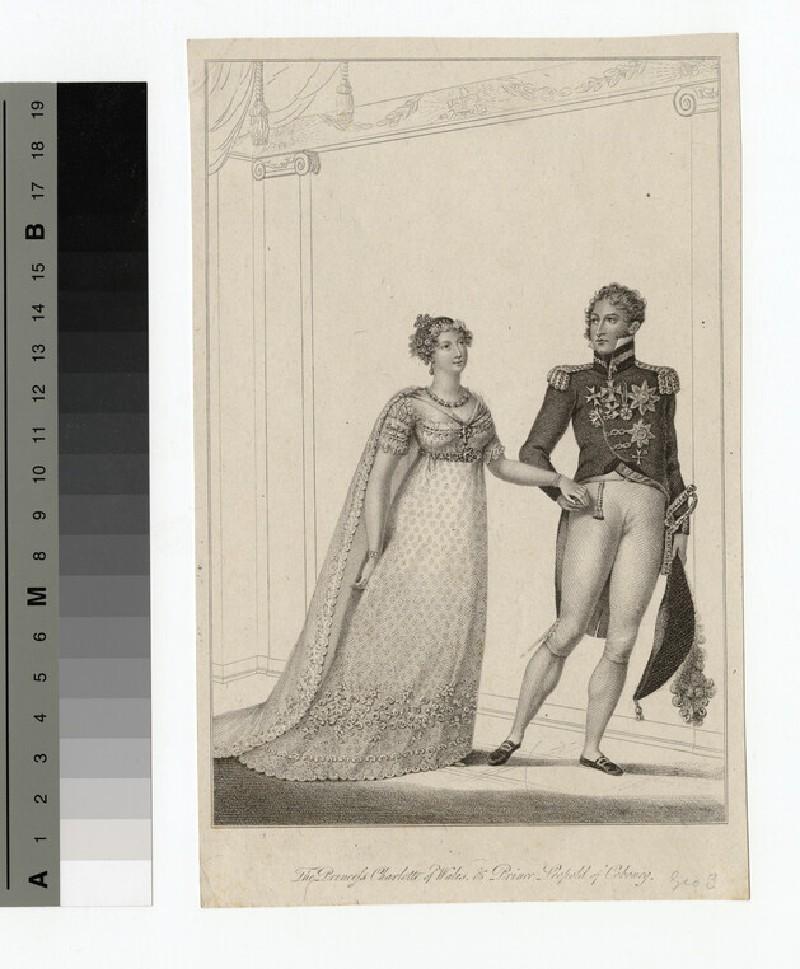 Portrait of Princess Charlotte and Prince Leopold