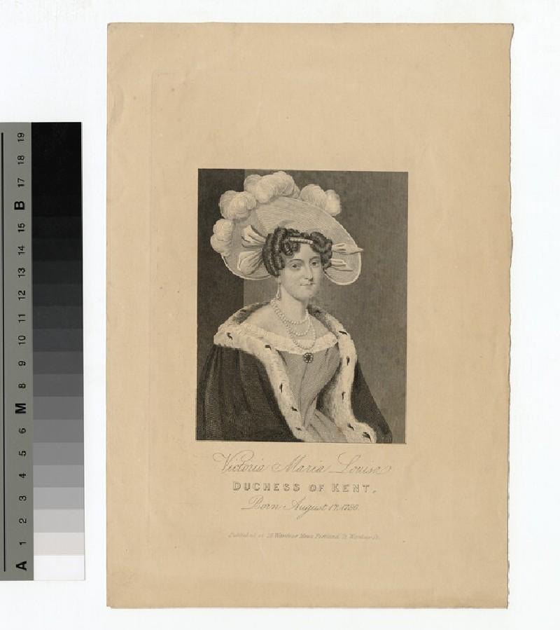 Portrait of Princess Victoria of Saxe-Coburg-Saalfeld, Duchess of Kent (WAHP14166)