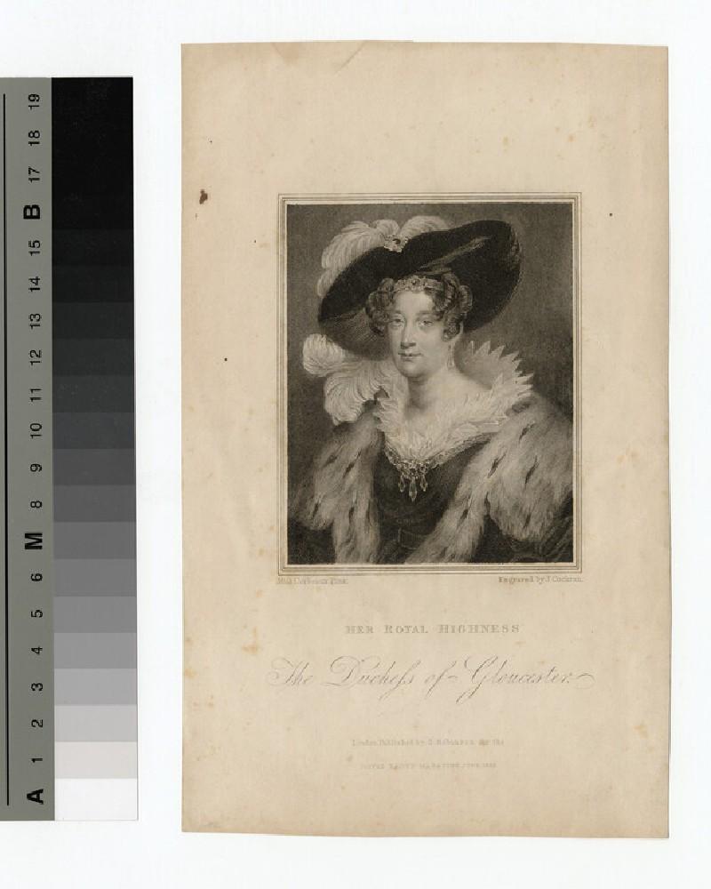 Portrait of Duchess Gloucester (WAHP14195)