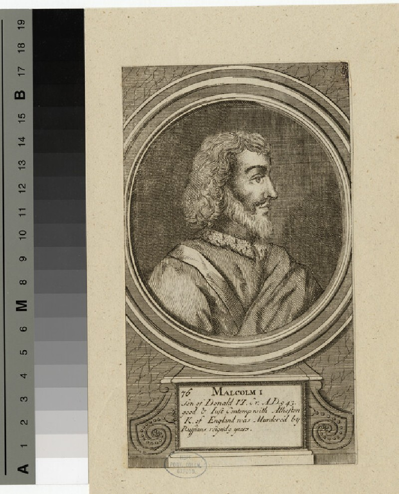 Portrait of Malcolm I (WAHP14320)