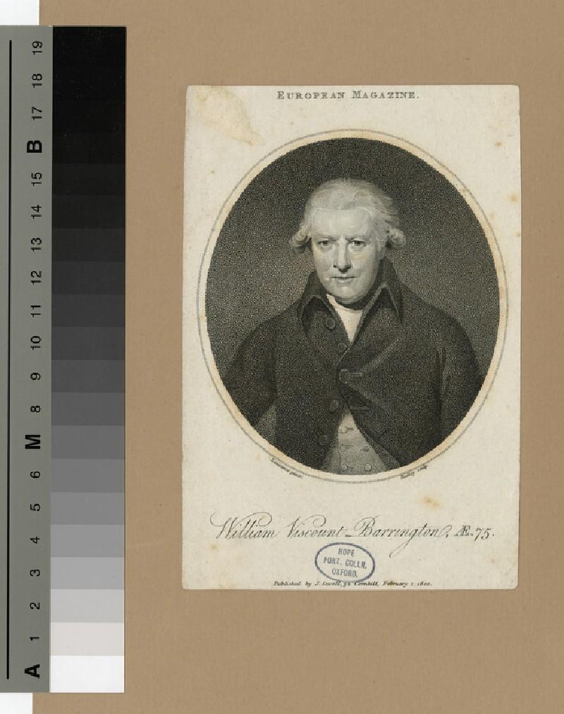 Portrait of VisCount Barrington