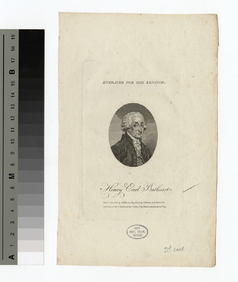 Portrait of Earl Bathurst