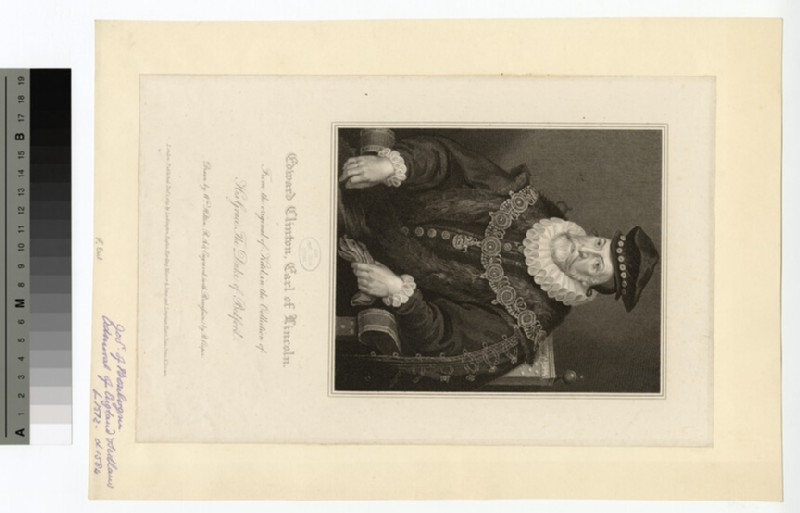 Portrait of Edward Clinton, 1st Earl of Lincoln
