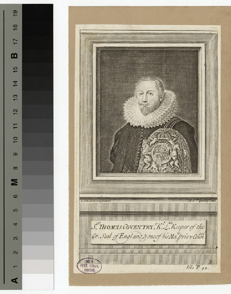 Portrait of Thomas Coventry, 1st Baron Coventry