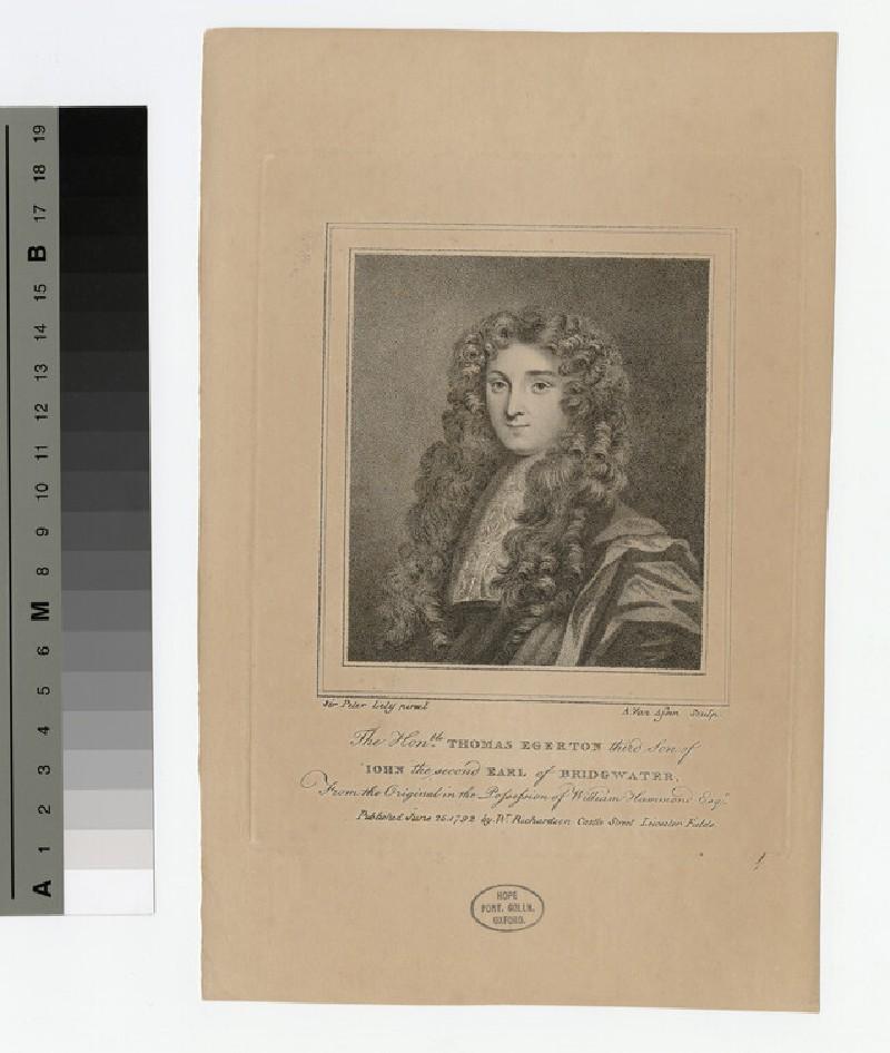 Portrait of John Egerton, 2nd Earl of Bridgewater
