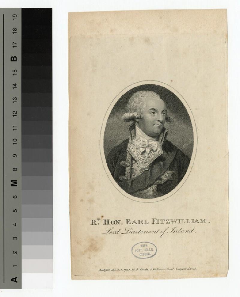 Portrait of Earl Fitzwilliam (WAHP15756)