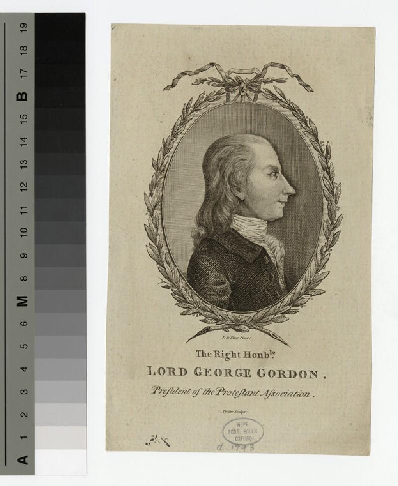 Portrait of Lord George Gordon